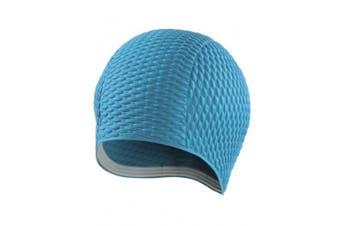 (Adult, Turquoise) - BECO Ladies Cap, inflated swimming cap, Unisex, BECO Damenhaube, luftgefüllt