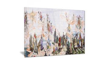 (28x12) - Design Art Immortals-Digital Floral Metal Wall Art-MT7486-28x12, 28x12