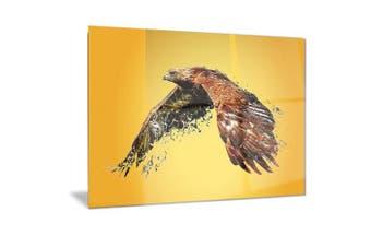 (28x12) - Design Art Soaring Eagle-Animal Metal Wall Art-MT2320-28x12, 28x12