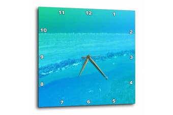 3dRose Print of Aqua And Turquoise Ocean And Sky Abstract, Wall Clock, 25cm by 25cm