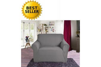 Elegant Comfort Collection Luxury Soft Furniture Jersey STRETCH SLIPCOVER, Chair Grey