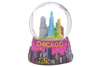 Chicago Snow Globe 45mm 2.5 Inch Purple Chicago Snow Globes from Chicago Souvenirs Collection