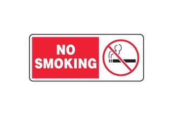ACCUFORM SIGNS No Smoking Sign, 18cm x 43cm , R and BK/WHT, AL MSMG500VA