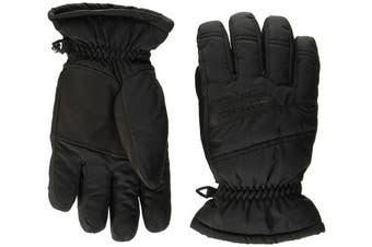 (Size 3.5, Black) - Ziener Lamosso Kids' Outdoor Gloves