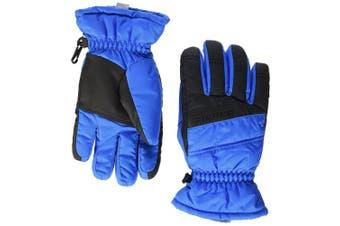 (Size 7, Persian Blue) - Ziener Lamosso Kids' Outdoor Gloves