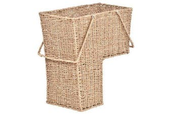 38cm Wicker Storage Stair Basket with Handles by Trademark Innovations
