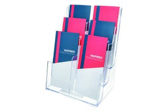 Deflecto 77401 Three-tier multi-pocket multi-compartment docuholder, 9wx7-1/2dx13-3/4h, clear