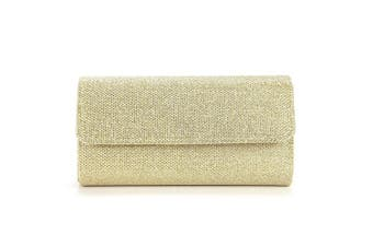 (Gold) - Anladia Women Ladies Evening Party Small Clutch Bag Bridal Purse Handbag Shoulder Bag