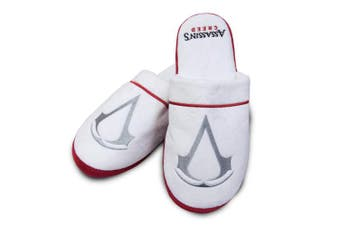 Groovy Adults Assassins Creed White Bathrobe Dressing Gown OR Mule Slippers