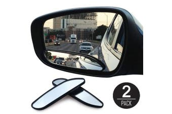 EEEKit 2Pcs Auto Wide Angle Convex Rear Side View Blind Spot Mirror for Universal Car
