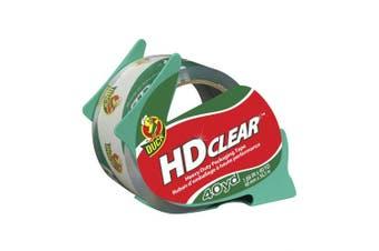 (Single Roll (Clear), 40 Yards/Roll) - Duck HD Clear Heavy Duty Packaging Tape With Dispenser, 4.8cm x 40 Yard, 1 Roll (394589)
