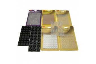 3M Scotch SJ Series Bumpon Self-Adhesive Bumpers: 0.3cm . thick x 0.8cm . wide (Clear)
