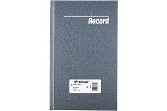 NATIONAL Granite Series Record Book, Patina Blue, 31cm x 18cm , 300 Pages (56031)