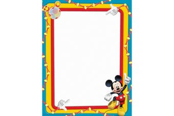 MICKEY MOUSE CLUBHOUSE PRIMARY colours COMPUTER PAPER