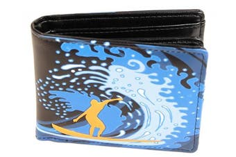 Shagwear Mens Wallet: Various colours and designs: (Wave Hunter Black)