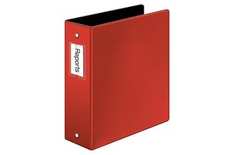 (7.6cm , Red) - Cardinal Premier Easy Open Locking Round Ring Binder, 7.6cm , Red with Label Holder (18848)