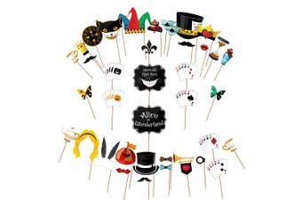 ASVP Shop® Alice in Wonderland Party Props Holding Signs For Mad Hatters Tea Party Huge Pack