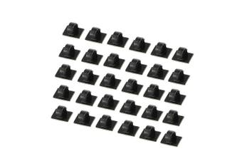 (30PCS 1.9*1.4cm) - Cable Clips 30 PCS Self-adhesive Cable Ties Plastic Rectangle Cable Holder Wire Clip Cable Tidy Quickly Tie and Untie the Cord for Desks Tables Walls Filing Cabinets Furniture