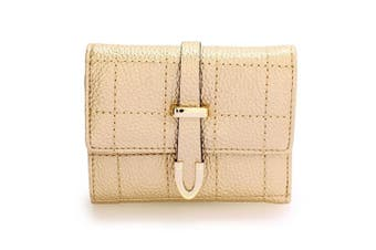 (Design 2 - Gold) - Women Small Purse Ladies Wallet For Coin Money Girls Card Holder With Slots Envelope Style