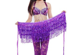 Best Dance Zumba Belly Dance Costume Sequin Tassel Fringe Hip Scarf Belt Waist Wrap Skirt