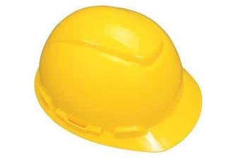 (Yellow) - 3M Hard Hat H-702V-UV, UVicator Sensor, Vented, 4-Point Ratchet Suspension, Yellow