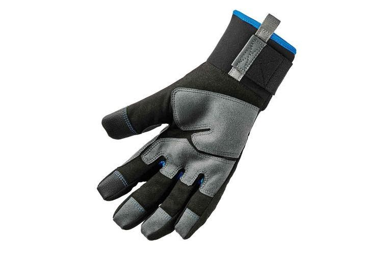 (Large, Standard) - Ergodyne ProFlex 817 Reinforced Thermal Winter Work Gloves, Touchscreen Capable, Black, Large