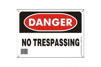"""RK OSHA Safety Sign, Legend """"Danger No Trespassing"""" - Default Title"""