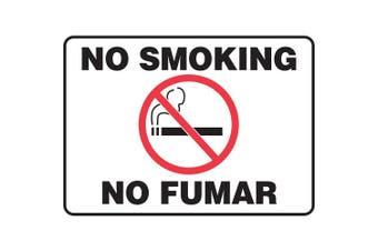 ACCUFORM SIGNS No Smoking Sign, 18cm x 25cm , R and BK/WHT, AL SBMSMK427MVA
