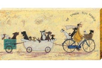 The Art Group Sam Toft the Doggie Taxi Service Canvas Print, Cotton, Multi-Colour, 1.8 x 50 x 100 cm