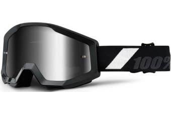 (Goliath/Silver Mirror Lens) - 100% Strata Unisex Enduro Goggles