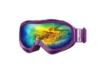 (VLT 13.7%) - OutdoorMaster OTG Ski Goggles - Over Glasses Ski/Snowboard Goggles for Men, Women & Youth - 100% UV Protection