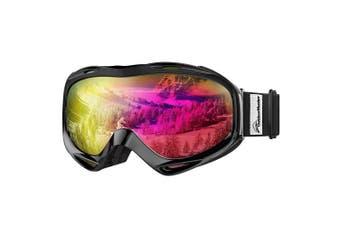 (VLT 13.2%) - OutdoorMaster OTG Ski Goggles - Over Glasses Ski/Snowboard Goggles for Men, Women & Youth - 100% UV Protection