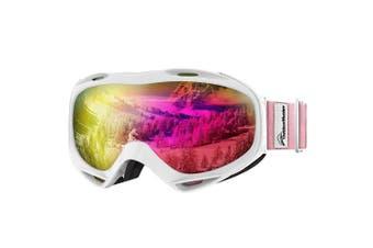 (VLT 13%) - OutdoorMaster OTG Ski Goggles - Over Glasses Ski/Snowboard Goggles for Men, Women & Youth - 100% UV Protection