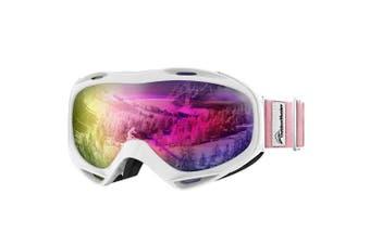 (VLT 45%) - OutdoorMaster OTG Ski Goggles - Over Glasses Ski/Snowboard Goggles for Men, Women & Youth - 100% UV Protection