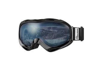 (VLT 60%) - OutdoorMaster OTG Ski Goggles - Over Glasses Ski/Snowboard Goggles for Men, Women & Youth - 100% UV Protection