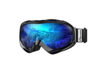 OutdoorMaster OTG Ski Goggles - Over Glasses Ski / Snowboard Goggles for Men, Women & Youth - 100% UV Protection