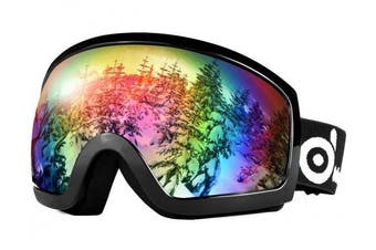 (VLT 20% Black) - Odoland Ski Goggles for adult men and women, UV400 Protection and Anti-Fog Lens, Magnetic Lens Design, Double Spherical Goggles for Skiing Skating Snowmobiles and Snowboards …