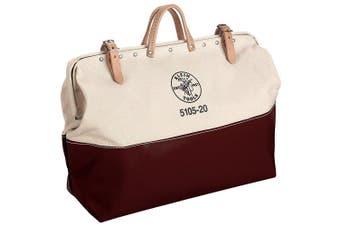 klein tools 5105-24 high-bottom canvas tool bag, 60cm
