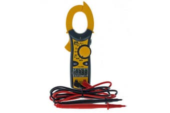 (w/ TRMS) - IDEAL INDUSTRIES INC. 61-746 Clamp Metre 600 Amp AC with NCV and TRMS, Voltage Indicator, CATIII for 600v, Yellow