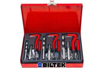 Biltek 89pc Professional Thread Repair Rethread Kit Restoring Damaged Threads M6 M8 M10