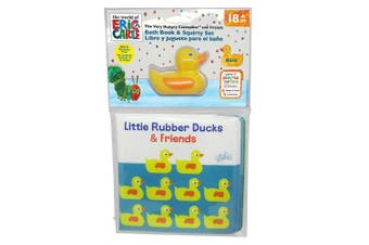 (Duckie Book & Squirty) - Kids Preferred World of Eric Carle Bath Set, Duckie Book & Squirty