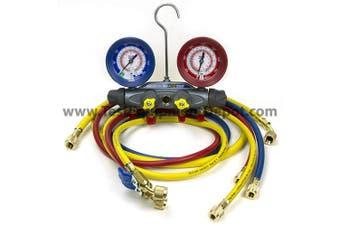 Yellow Jacket 46013 Brute II Test & Charging Manifold, F/C, R/B Gauge, Psi, R-22/404A/410A