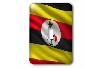 3dRose Flag of Uganda waving in the wind, Single Toggle Switch
