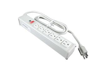 """C2G 16296 4.6m Wiremold 6-Outlet Plug"""" Centre Unit 120V/15A Lighted Switch Power Strip (TAA)"""