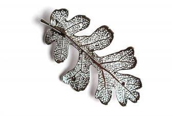 Real Oak leaf silver brooch