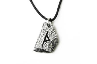 (TH - Thuriaz) - Pewter Norse Viking Rune Pendant