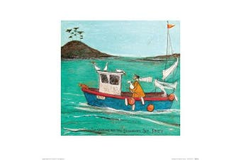 (Paper) - The Art Group Searching for the Legendary Sea Pasty Sam Toft Art Print, Paper, Multi-Colour, 40 x 40 x 1.3 cm