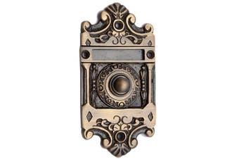(Antique Brass) - Adonai Hardware Nehushtan Decorative Brass Bell Push or Door Bell or Push Button