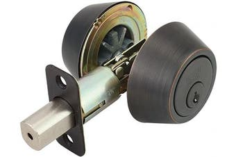 (Deadbolt, Oil-Rubbed Bronze) - Design House Springdale 750760 Pro Double Cylinder Deadbolt, Oil Rubbed Bronze