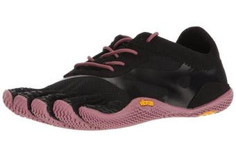 (8/8.5 UK, Black (Black/rose)) - Vibram FiveFingers Women's KSO EVO Fitness Shoes